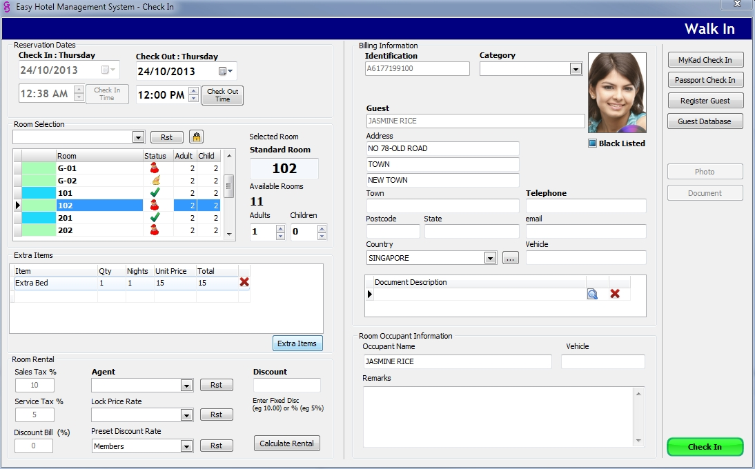 time share software system, budget hotel, motel management software
