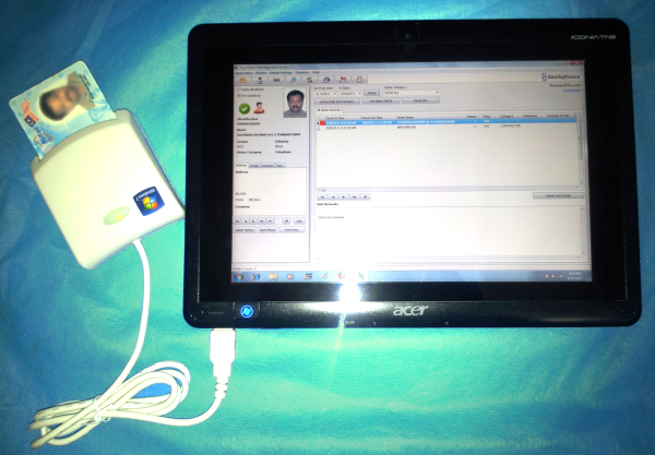 Visitor Management System using MyKad Reader on Tablet PC